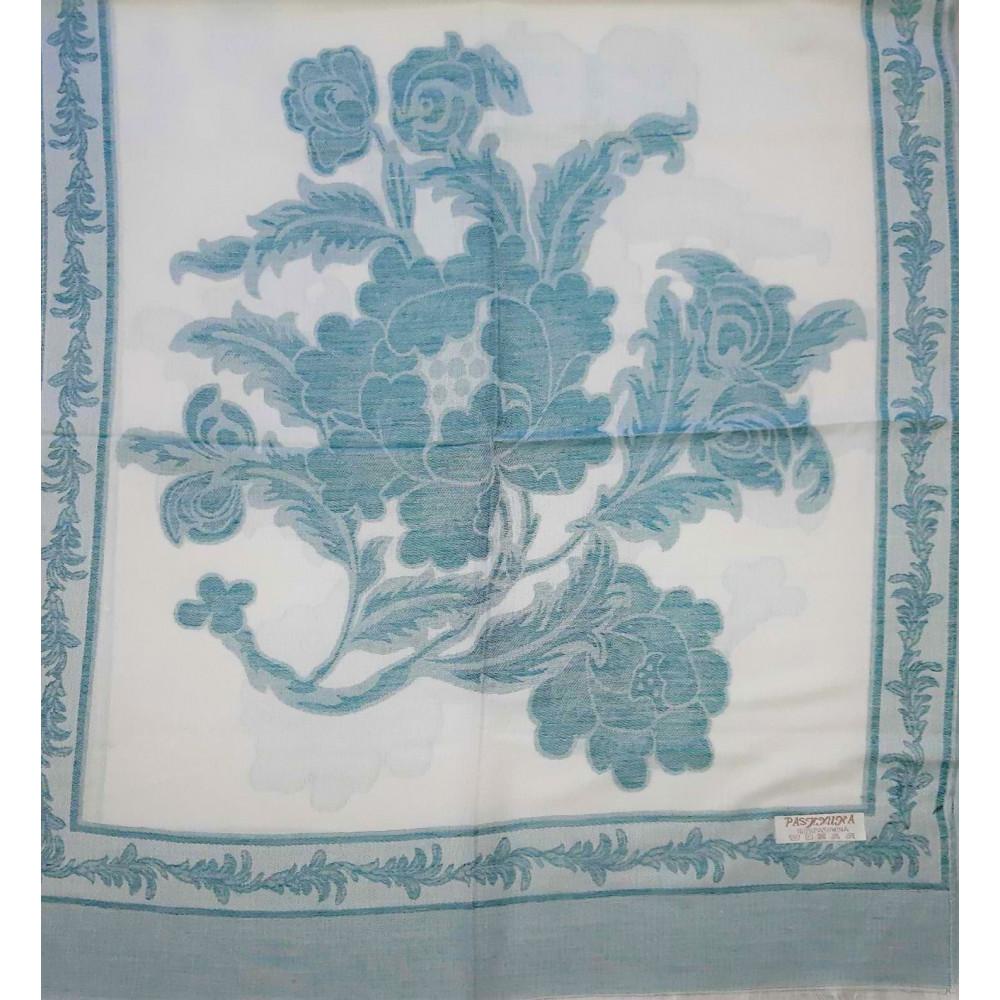 Зеленый шарф из пашмина фото 2