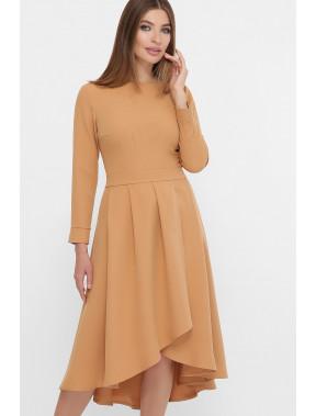 Элегантное платье песочного цвета Лика