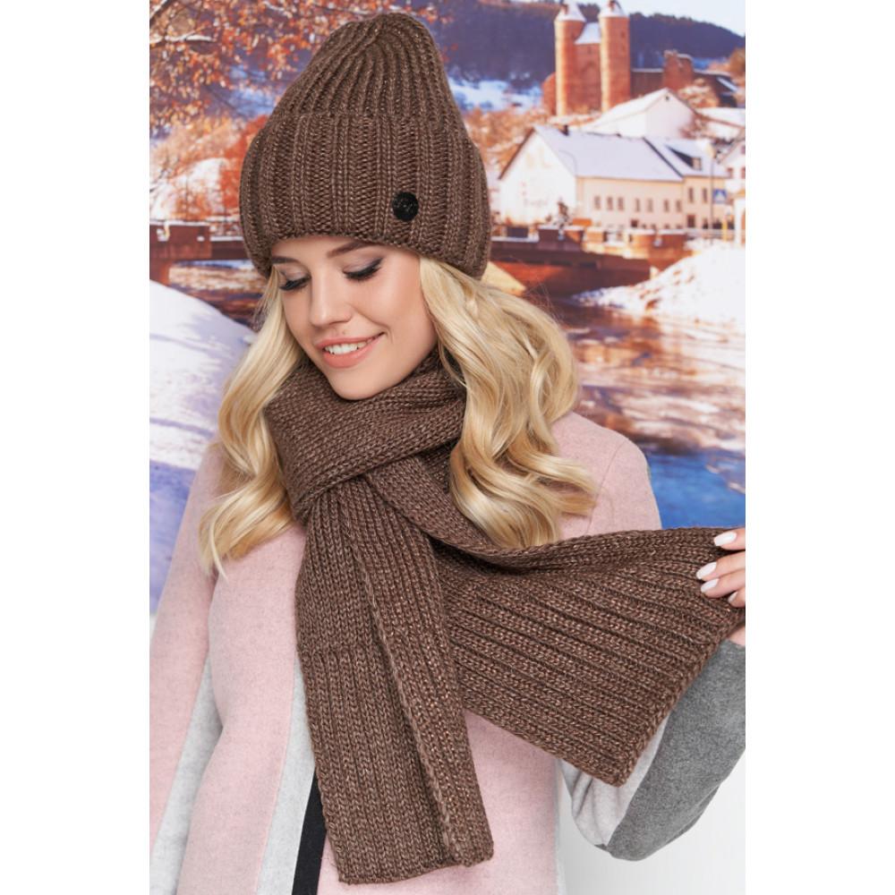 Вязаный комплект Наоми (шапка+шарф) фото 1