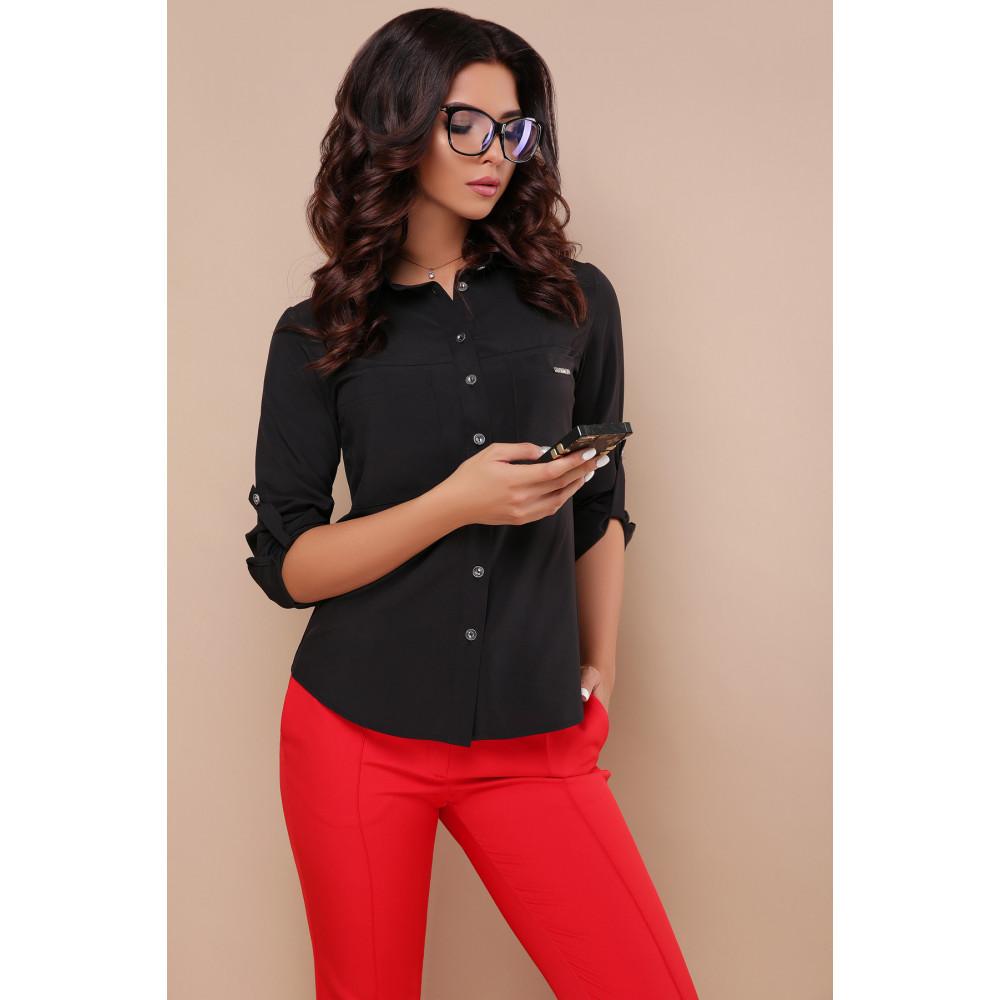 Строгая черная блузка Кери фото 2