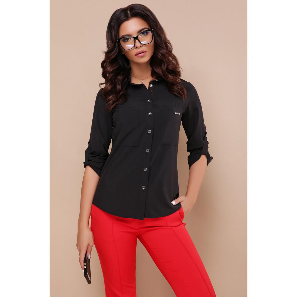 Строгая черная блузка Кери фото 3