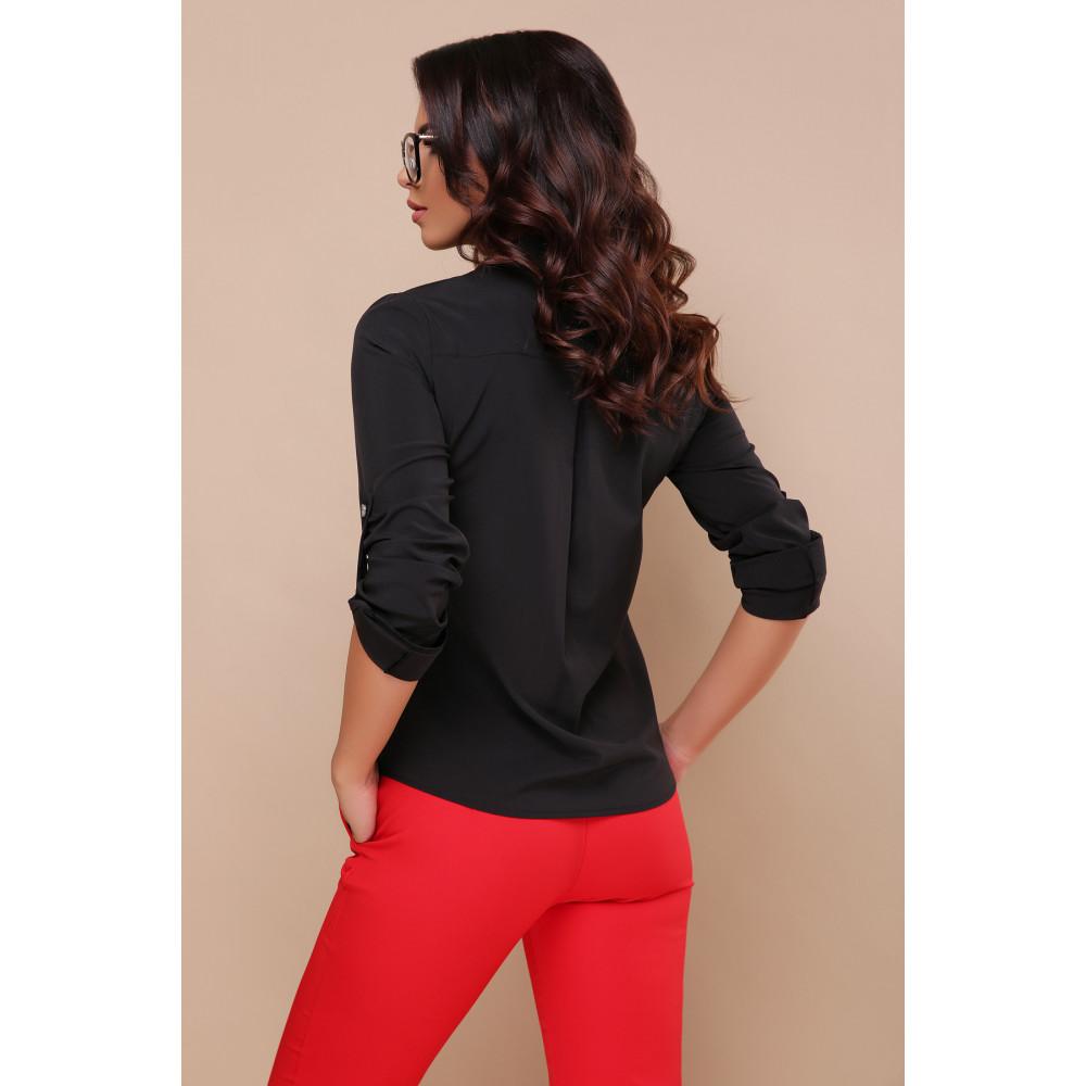 Строгая черная блузка Кери фото 4
