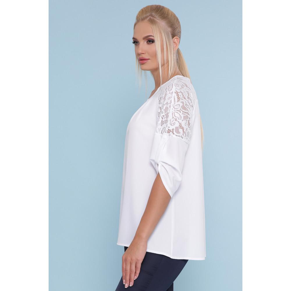 Белоснежная блузка с кружевом Гретта фото 2