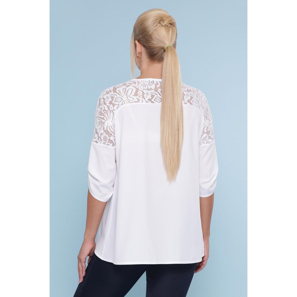 Белоснежная блузка с кружевом Гретта фото 3