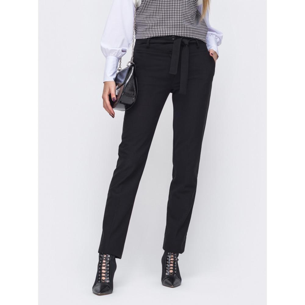 Длинные черные брюки из тиара фото 1