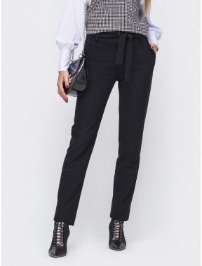 Длинные черные брюки из тиара