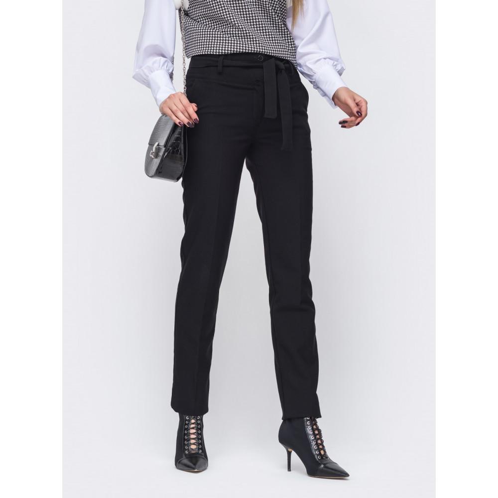 Длинные черные брюки из тиара фото 2