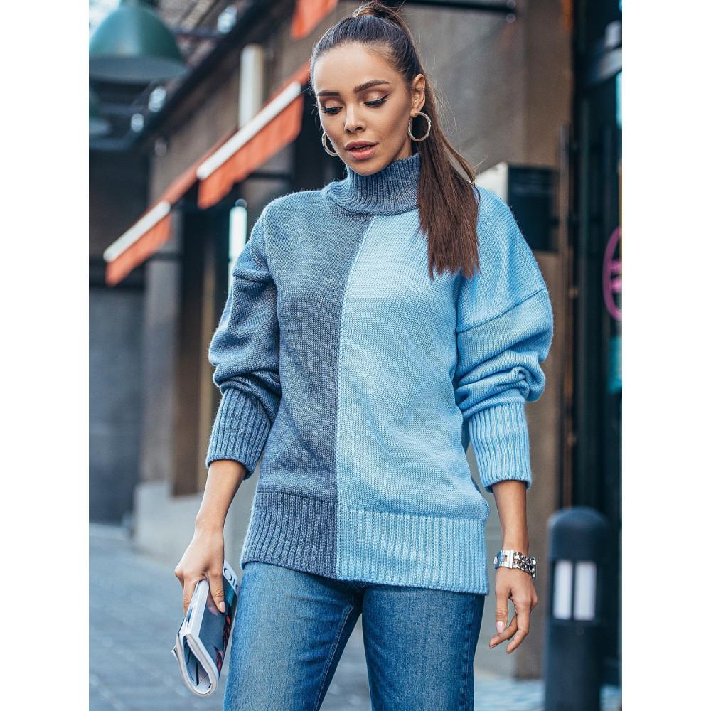 Комбинированный свитер Би фото 1