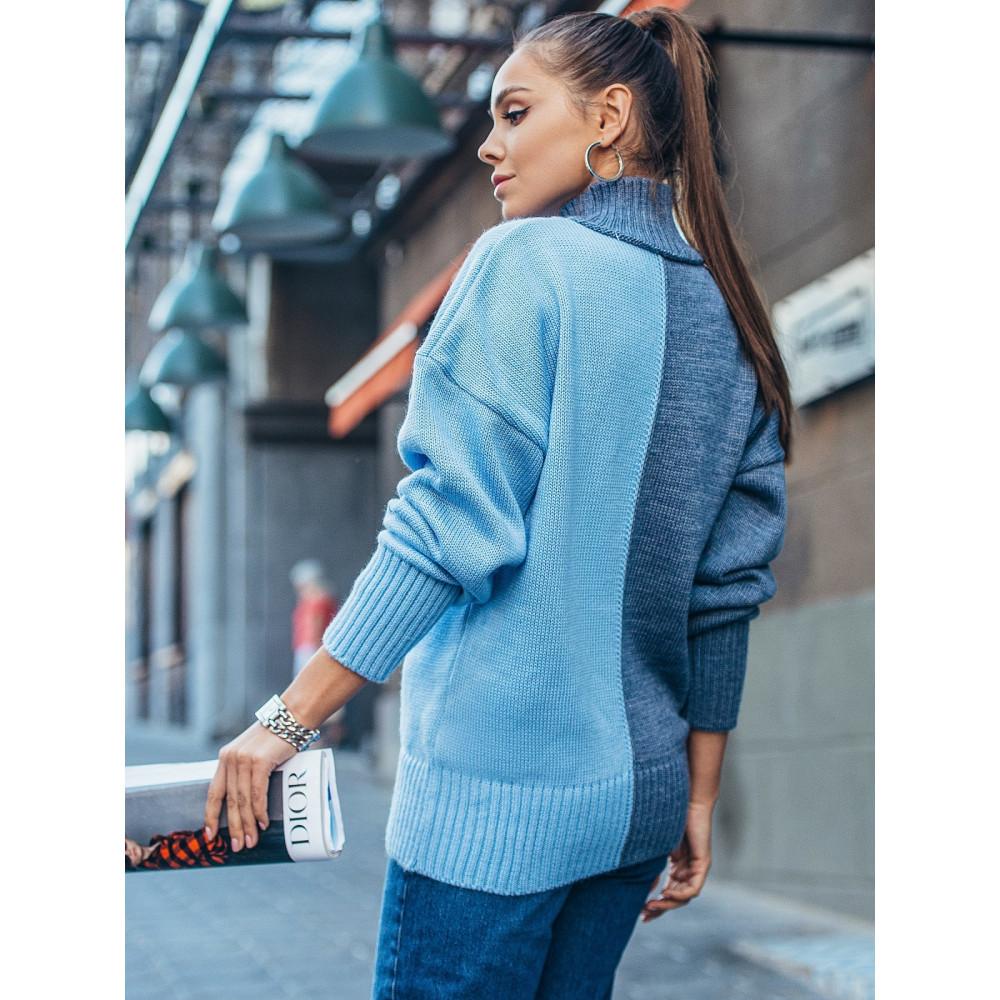 Комбинированный свитер Би фото 2