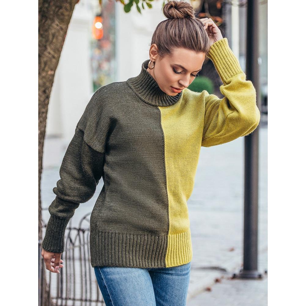 Интересный двухцветный свитер Би фото 1
