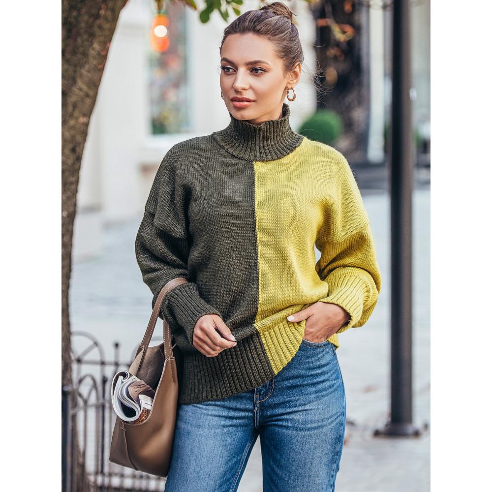 Интересный двухцветный свитер Би фото 2