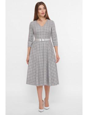 Светло-серое офисное платье Киана
