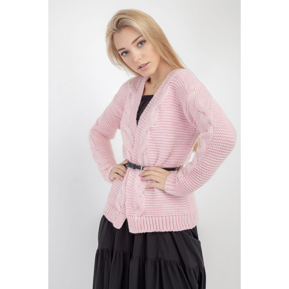Красивый розовый кардиган фото 2