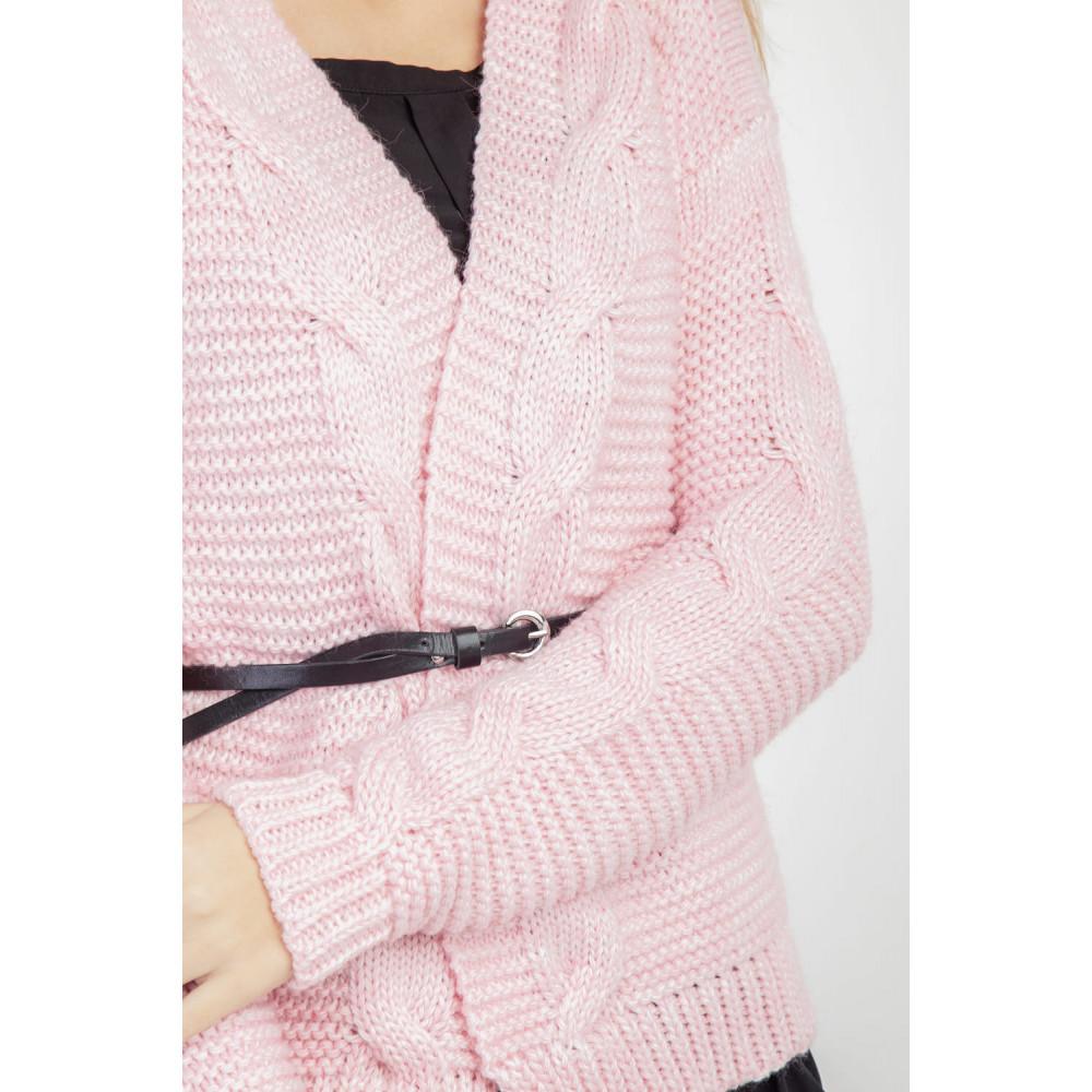 Красивый розовый кардиган фото 4