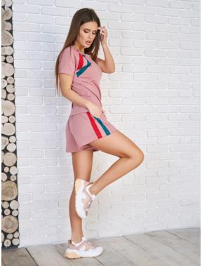 Рожевий трикотажний костюм-двійка Аміра