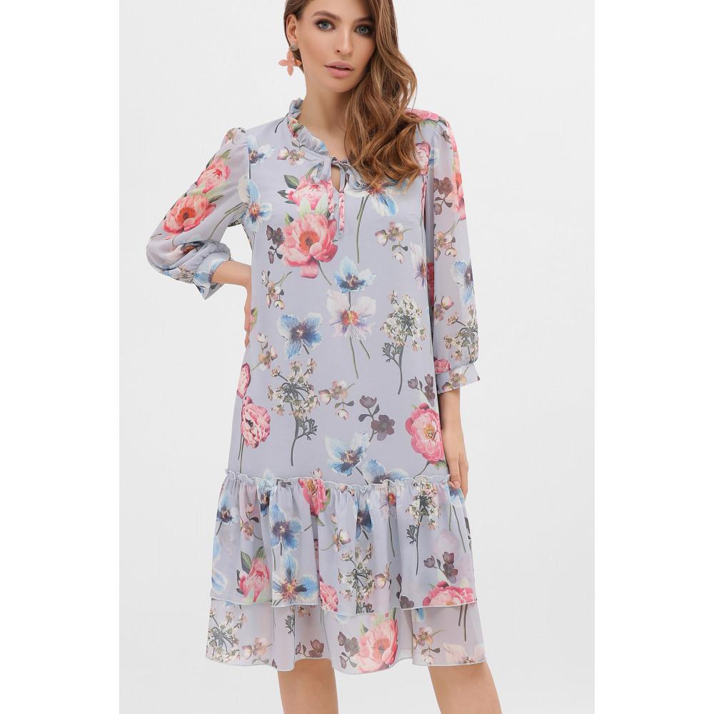 Милое платье из шифона в цветы Элисон фото 1
