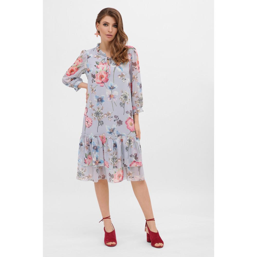 Милое платье из шифона в цветы Элисон фото 2