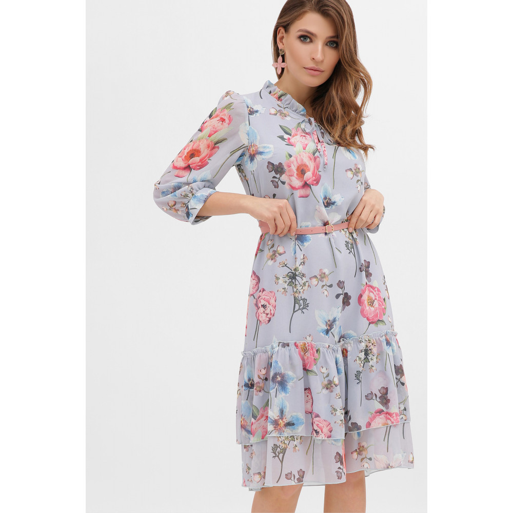 Милое платье из шифона в цветы Элисон фото 4