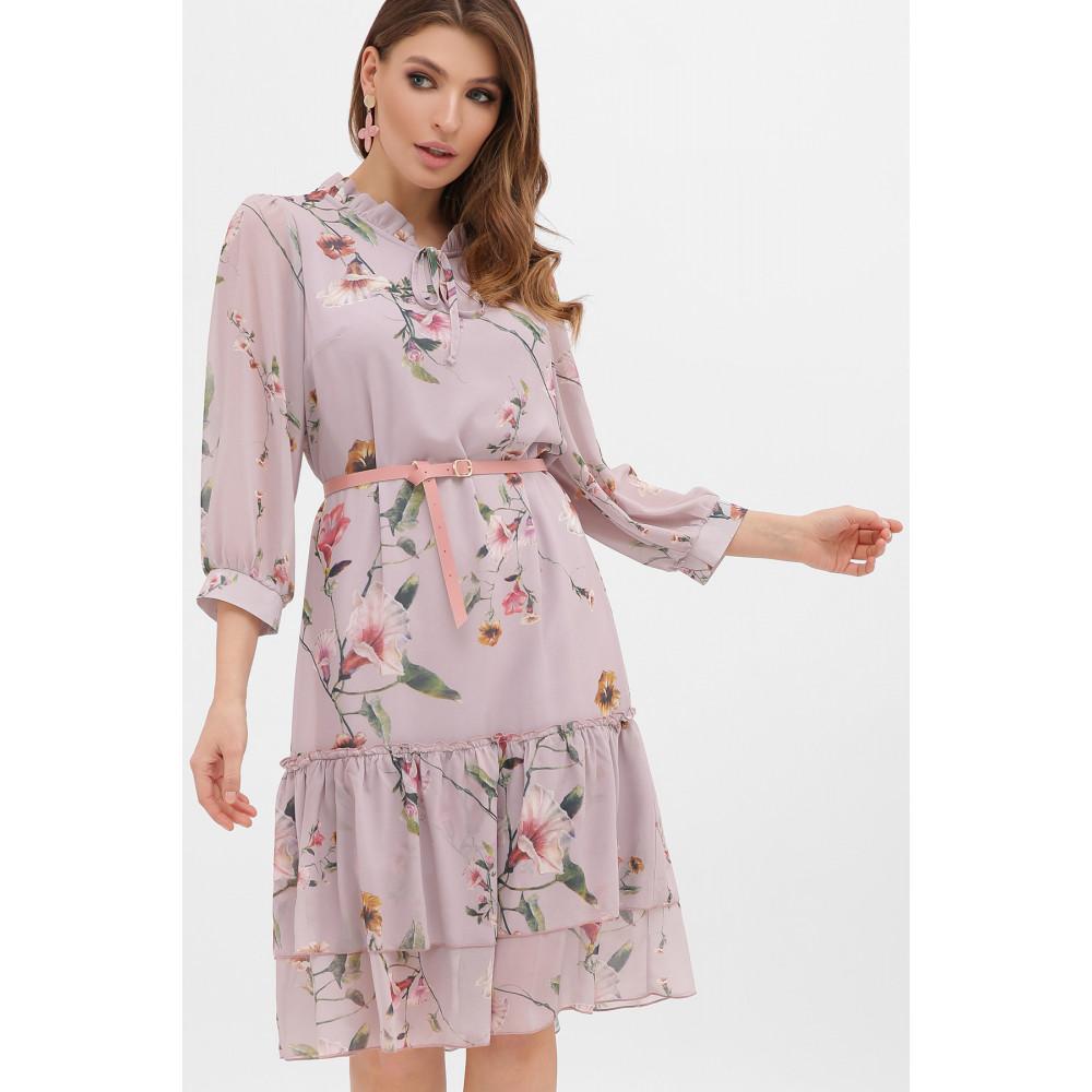 Великолепное шифоновое платье в цветы Элисон фото 1