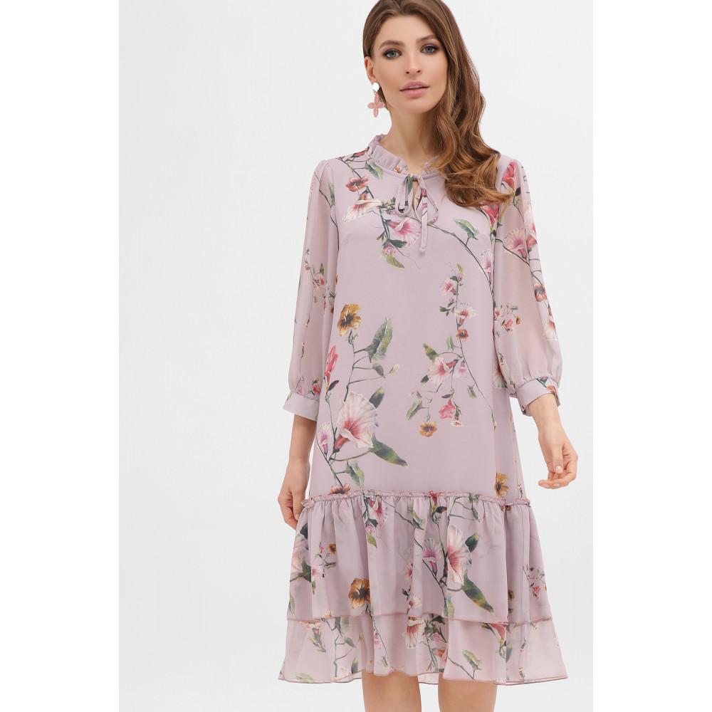 Великолепное шифоновое платье в цветы Элисон фото 2