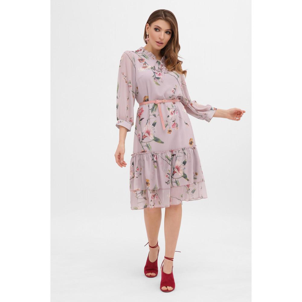 Великолепное шифоновое платье в цветы Элисон фото 3