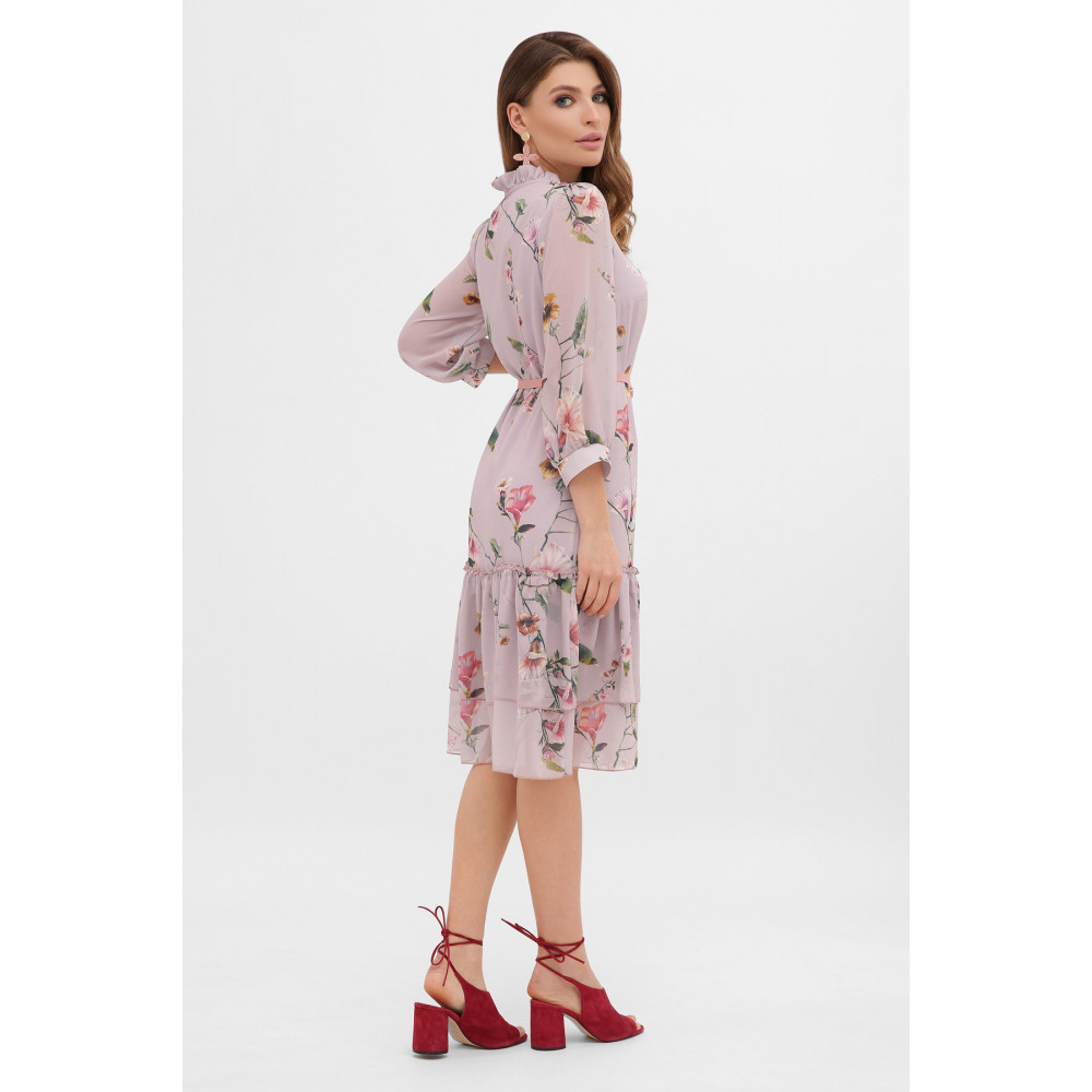 Великолепное шифоновое платье в цветы Элисон фото 4