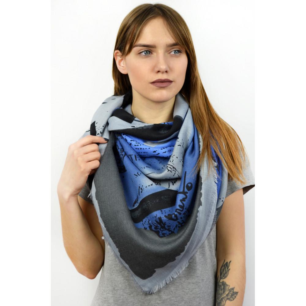Красивый синий платок Сара фото 1