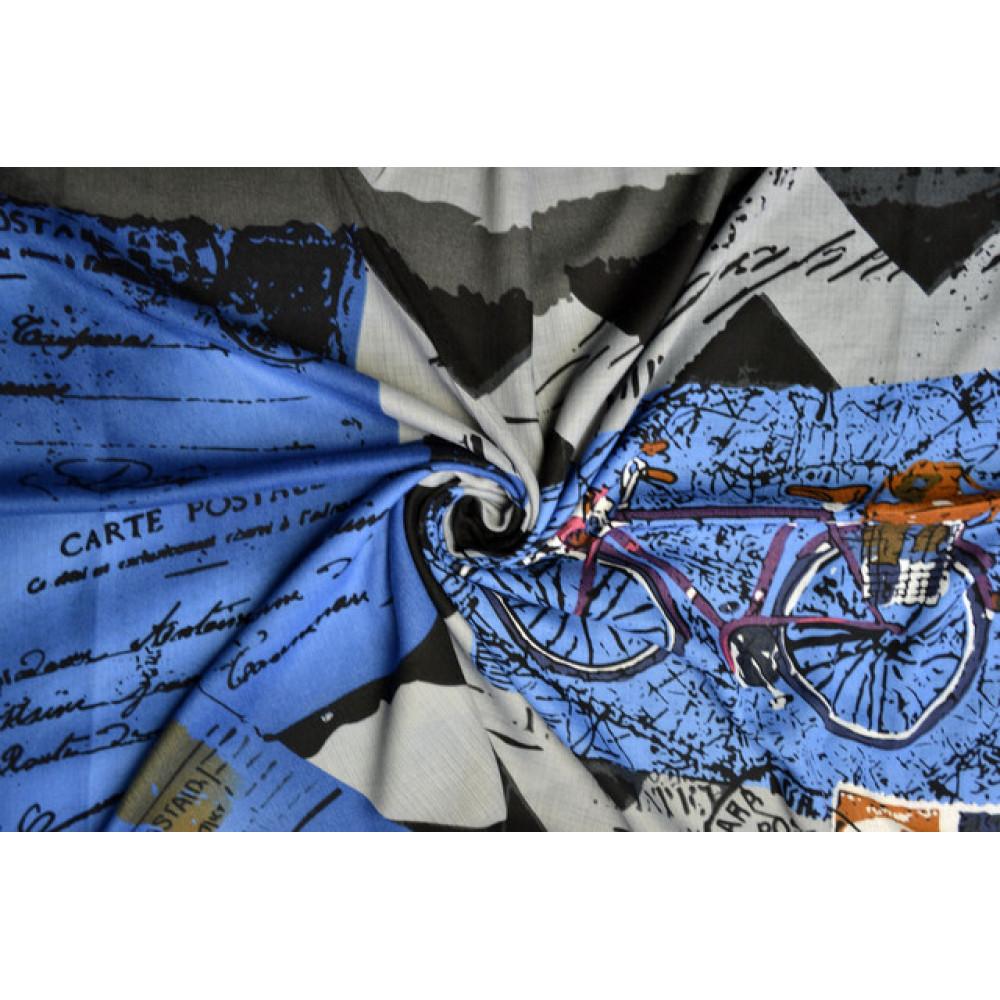 Красивый синий платок Сара фото 2