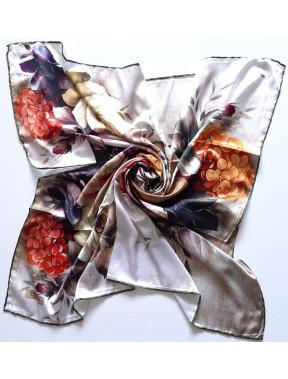 Оливковый шелковый платок Rose