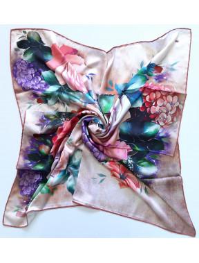 Нежный шелковый платок Rose