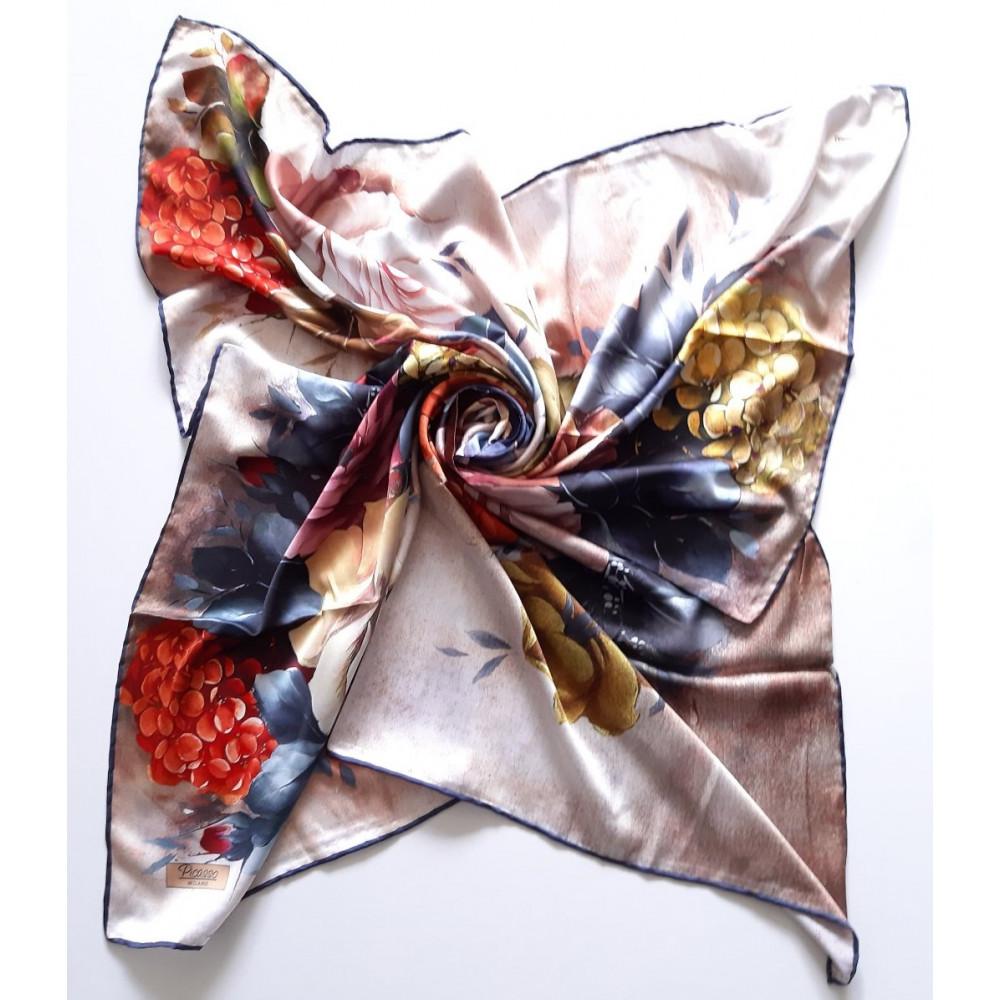Интересный шелковый платок Rose фото 1