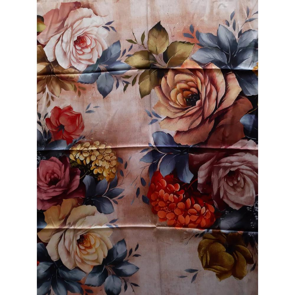 Интересный шелковый платок Rose фото 2