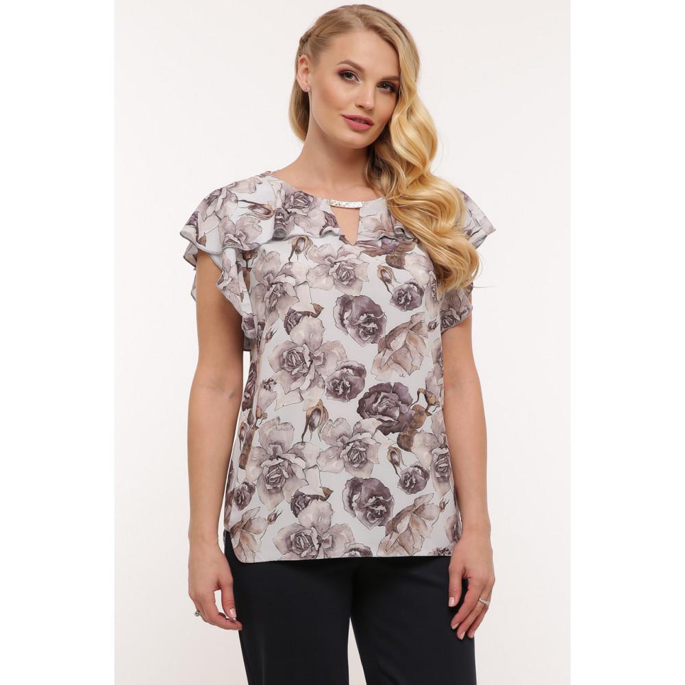 Красивая женская блуза в пепельные розы Альбина фото 1