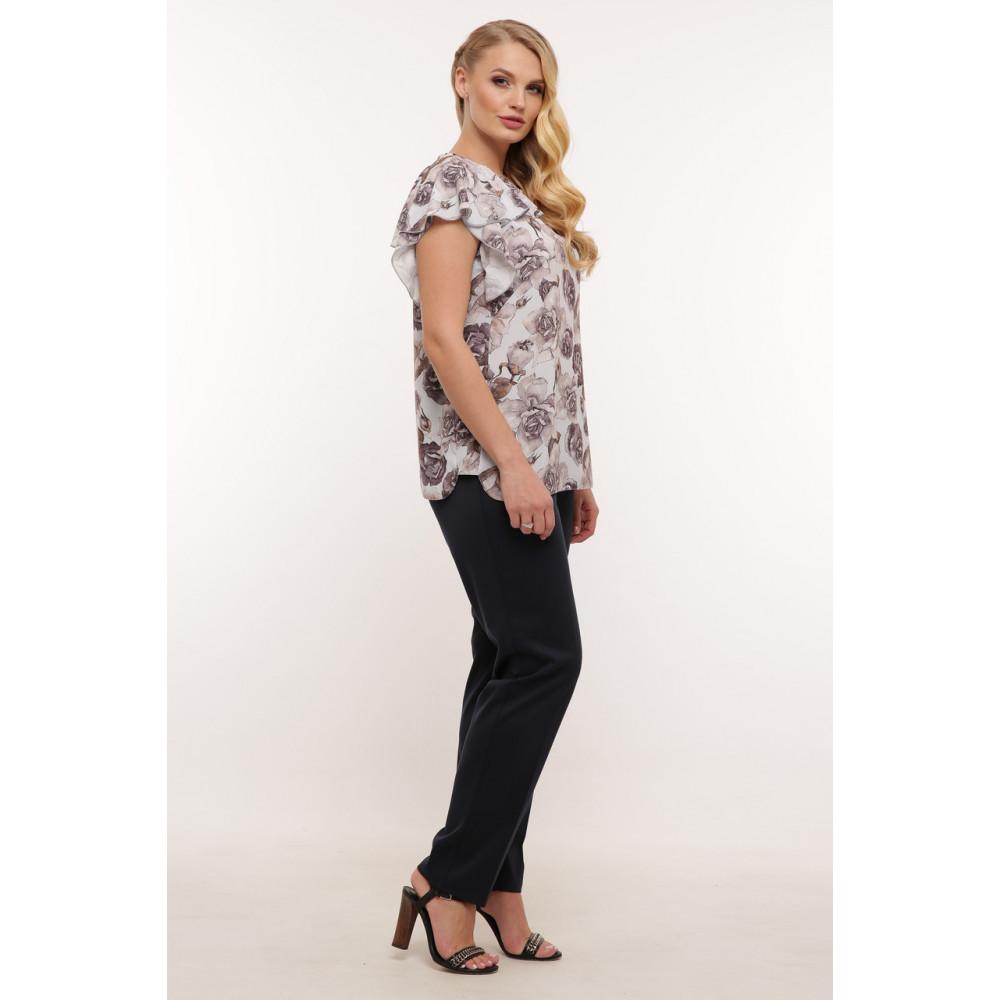 Красивая женская блуза в пепельные розы Альбина фото 2