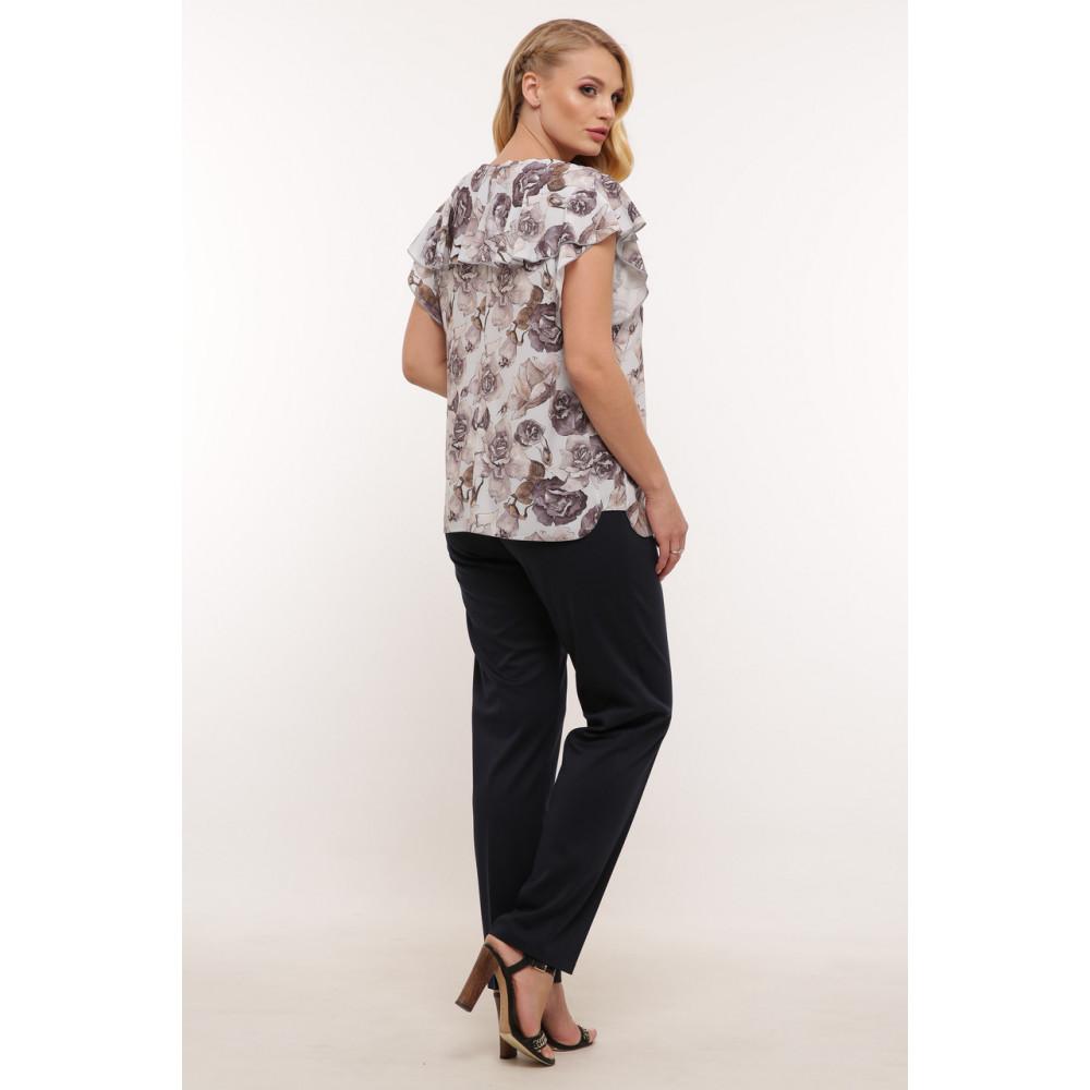 Красивая женская блуза в пепельные розы Альбина фото 4