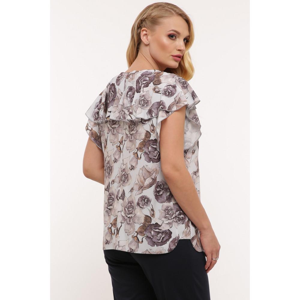 Красивая женская блуза в пепельные розы Альбина фото 5