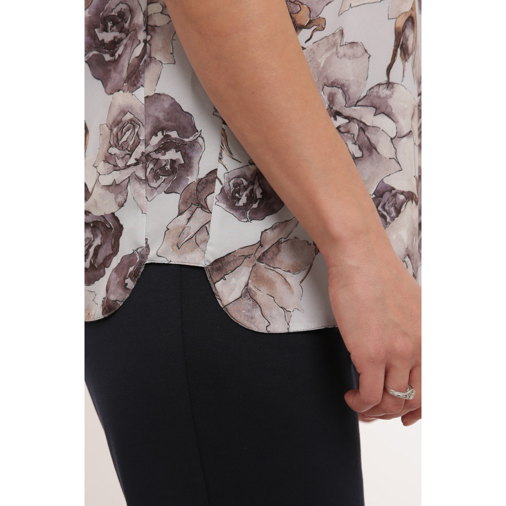 Красивая женская блуза в пепельные розы Альбина фото 7
