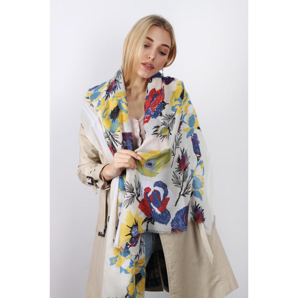 Весенний шарф Оллисия желтого цвета фото 1