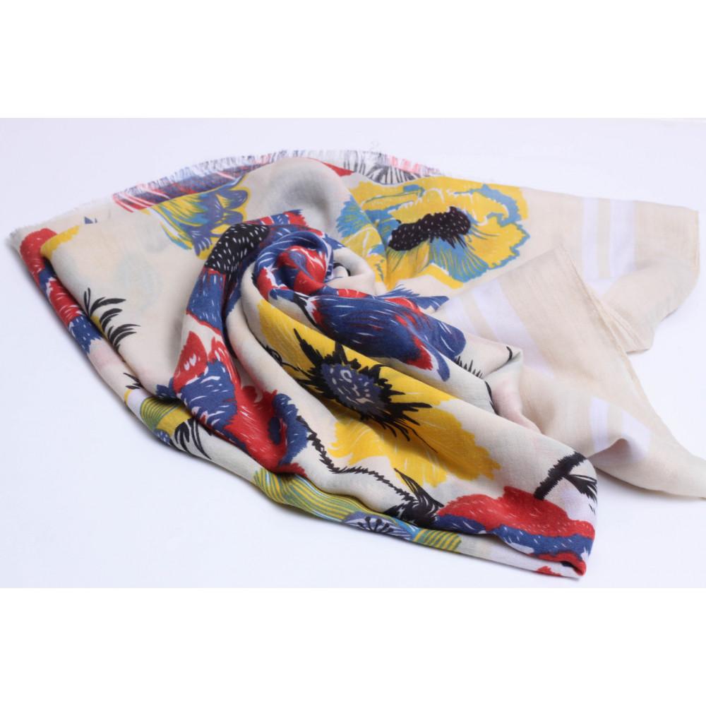 Весенний шарф Оллисия желтого цвета фото 2