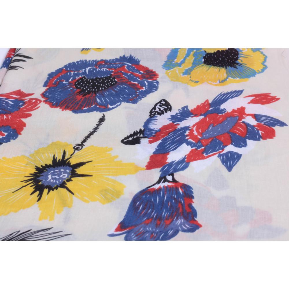 Весенний шарф Оллисия желтого цвета фото 3