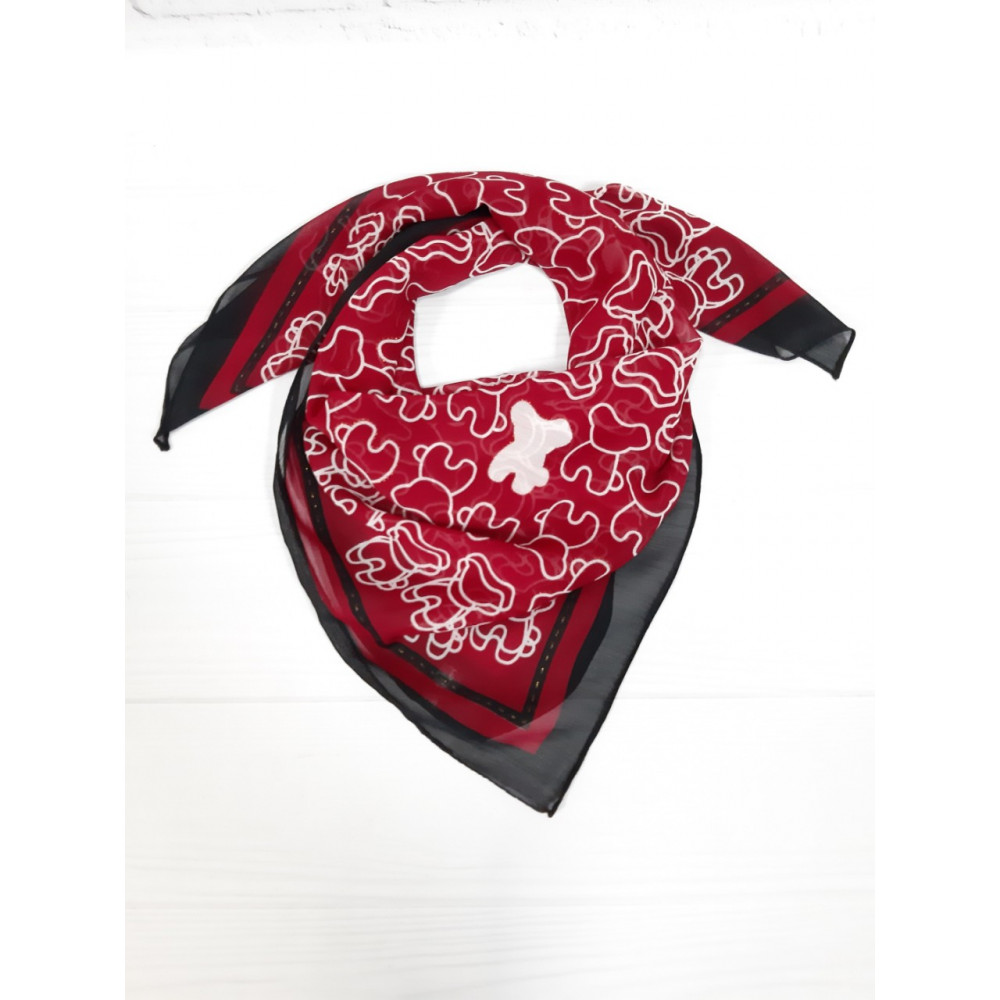 Бордовый шейний платок фото 1