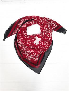 Бордовый шейный платок
