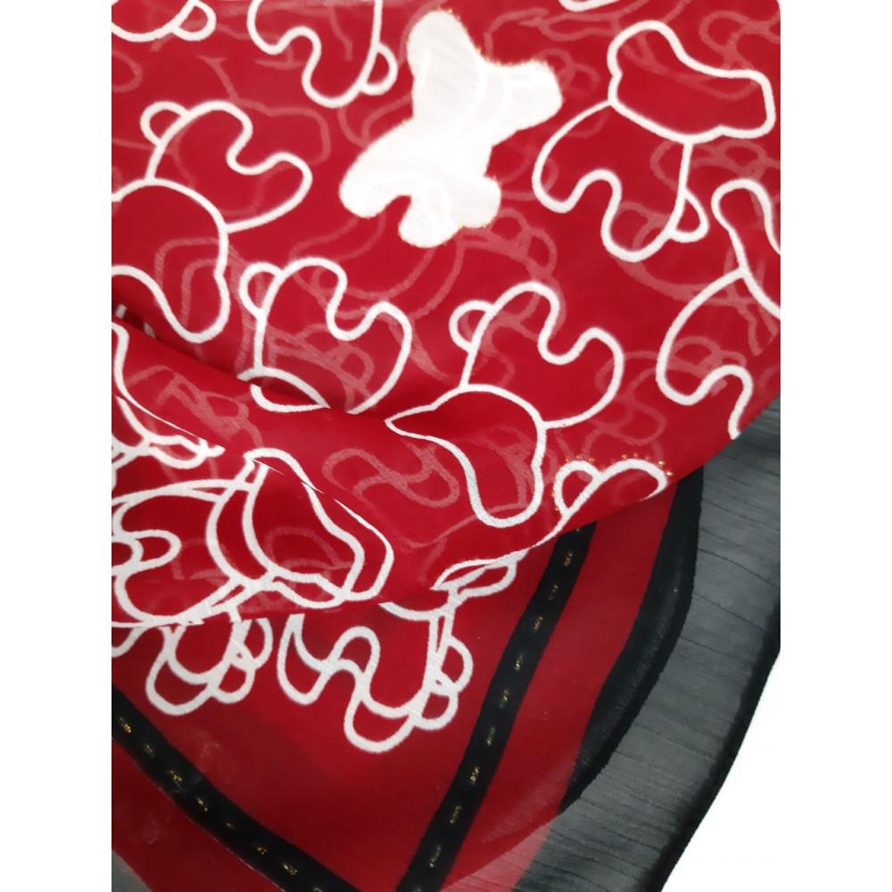 Бордовый шейний платок фото 2