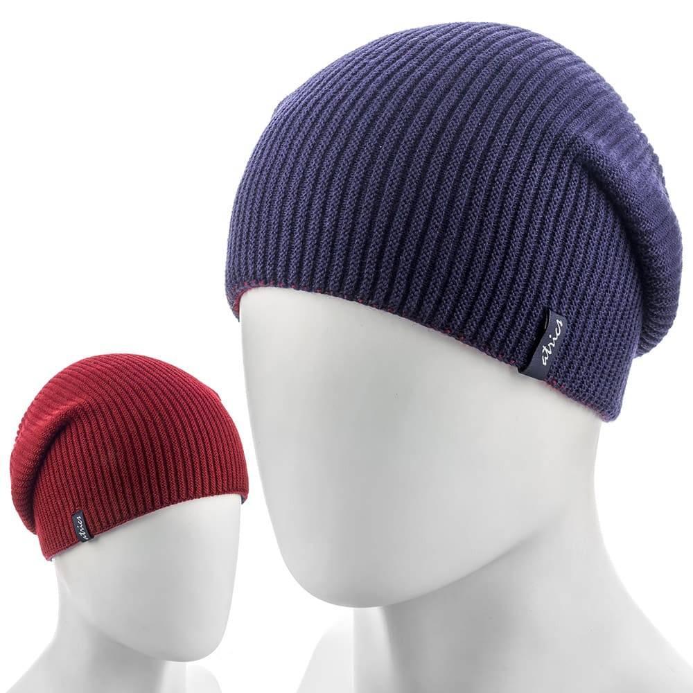 Мужская двухсторонняя шапка (синий+бордо) фото 1