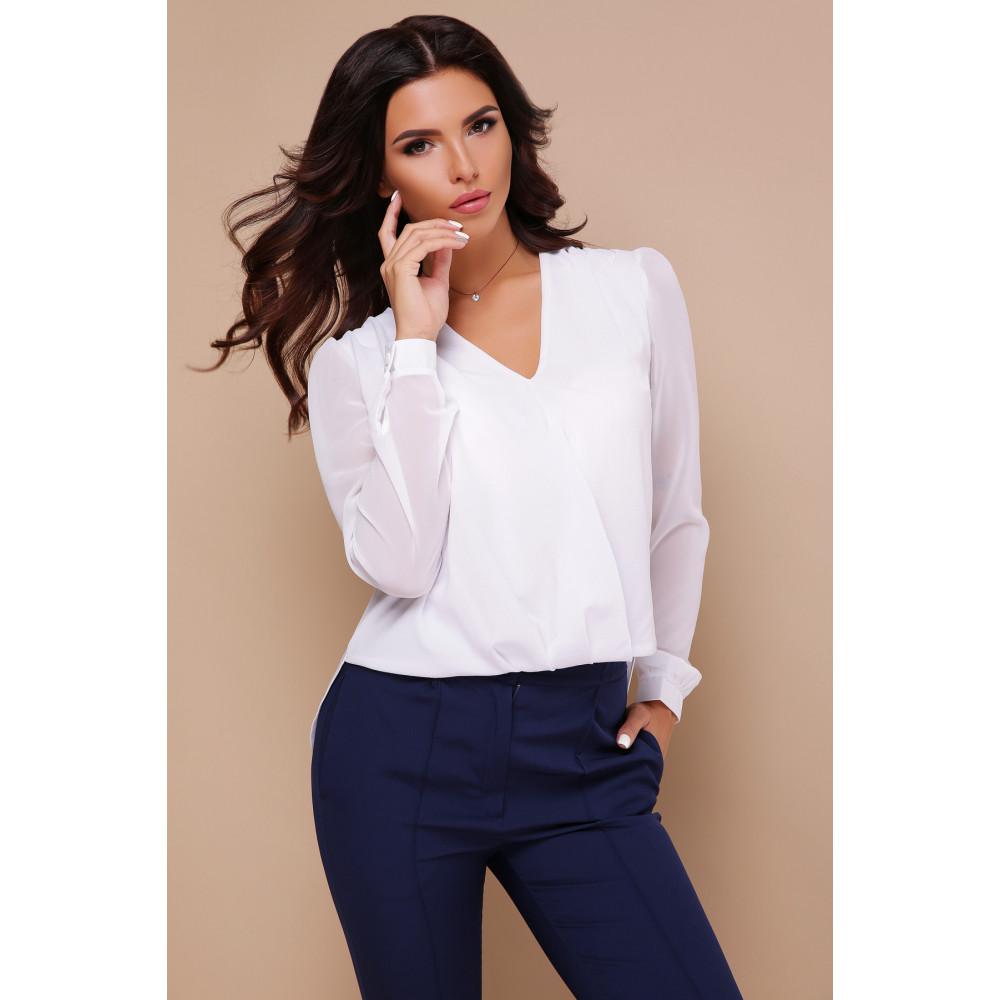 Изящная белая блузка Айлин фото 1