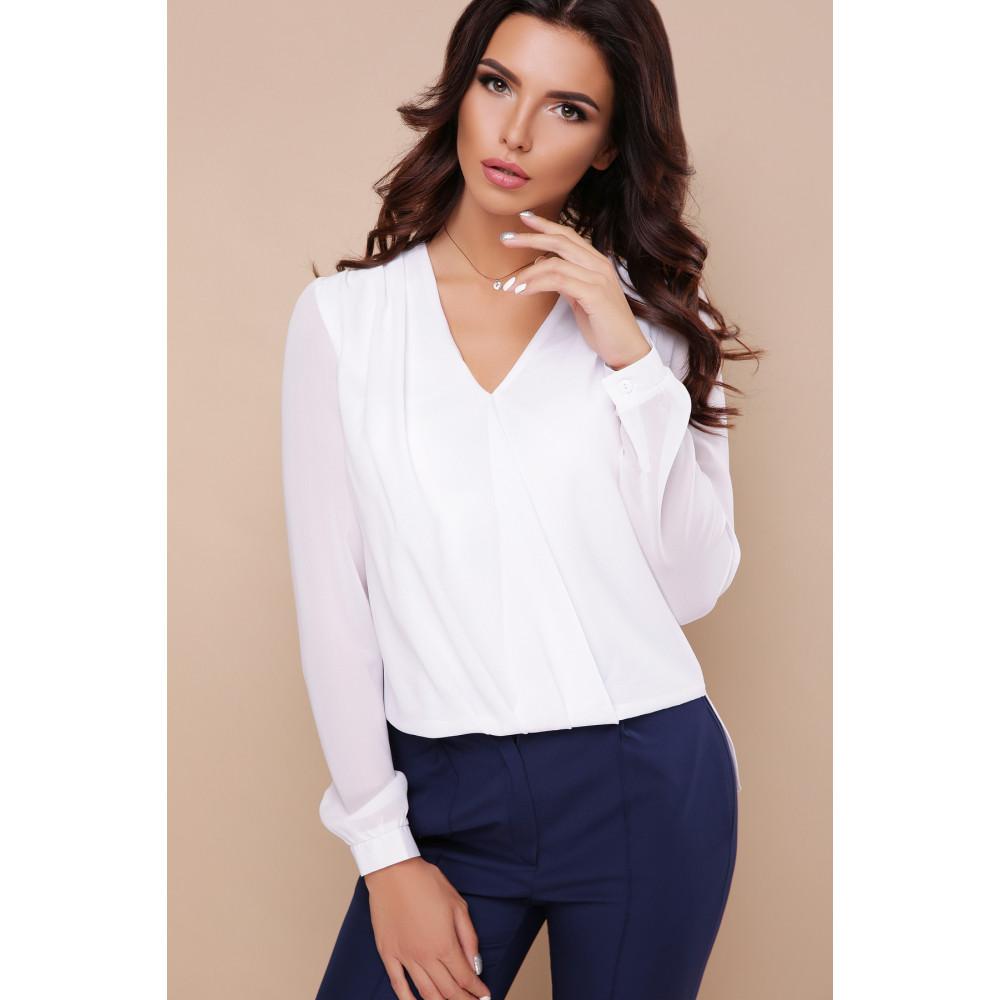 Изящная белая блузка Айлин фото 2