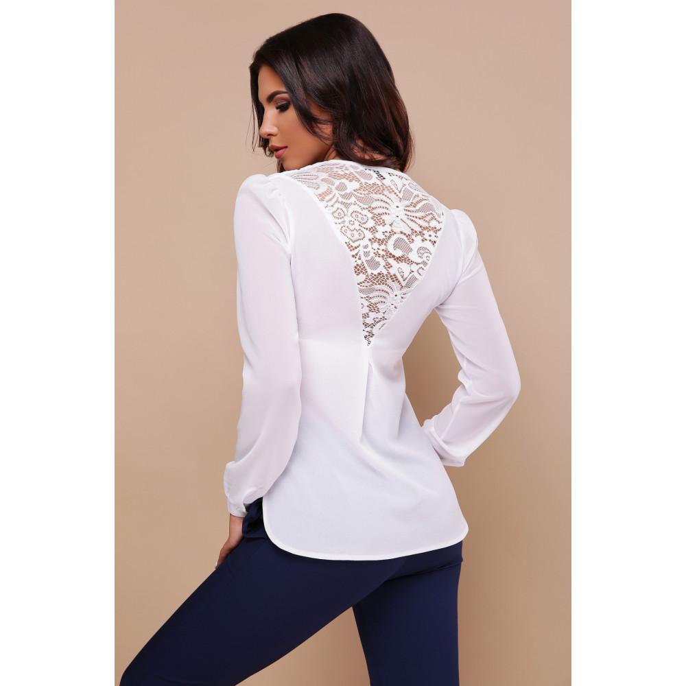 Изящная белая блузка Айлин фото 3