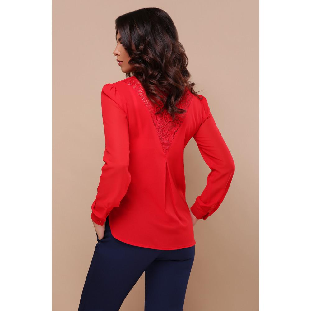 Красная блузка с V-вырезом Айлин фото 4