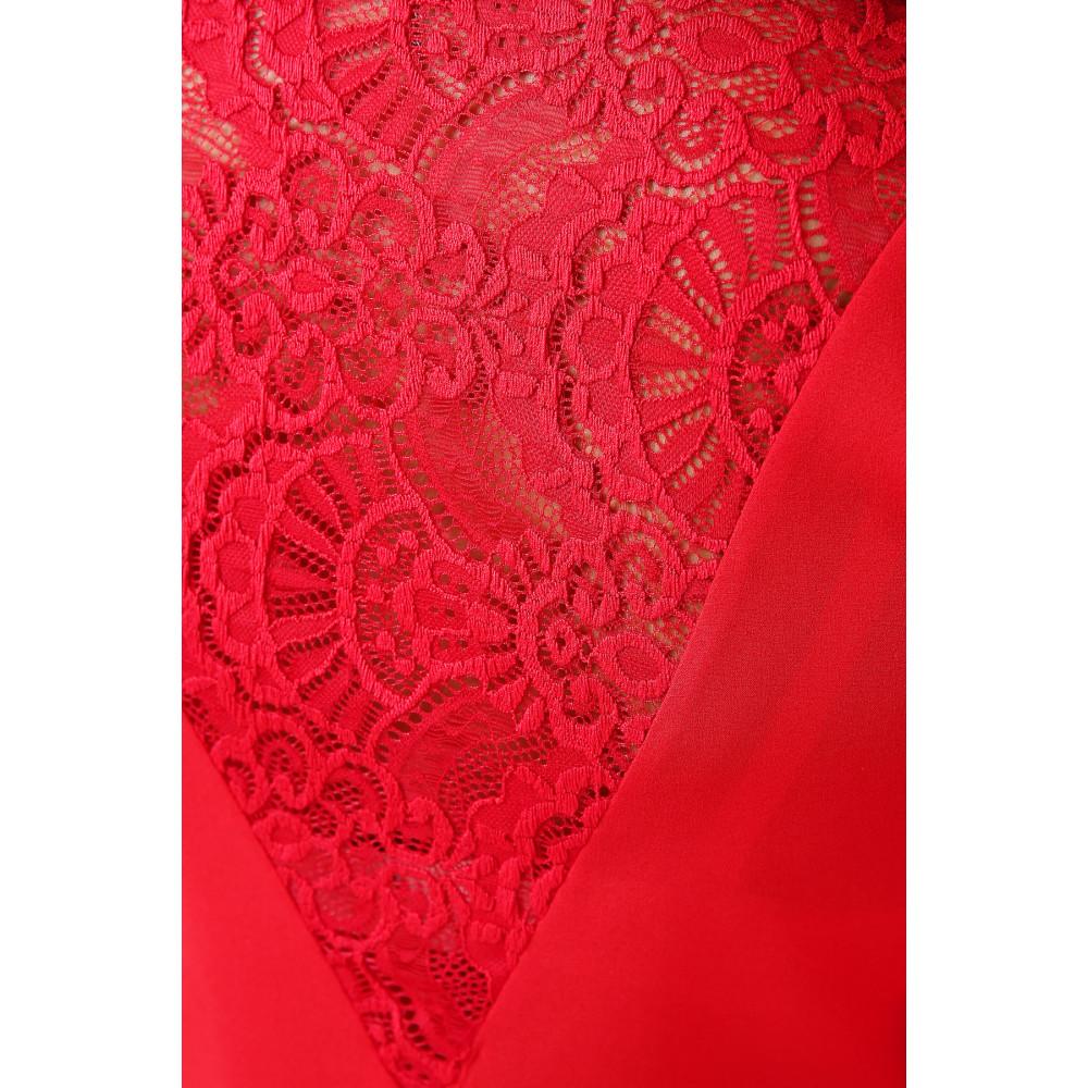 Красная блузка с V-вырезом Айлин фото 5