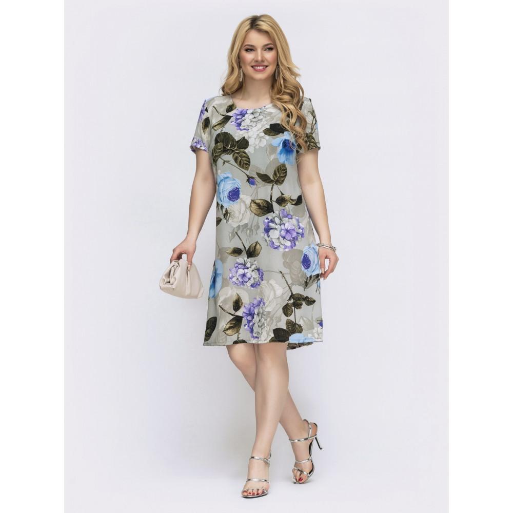 Замечательное платье в цветочный принт Людмила фото 1